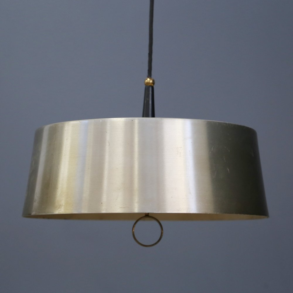 Midcentury Pendant by Oscar Torlasco for Lumi (with original label), 1950s