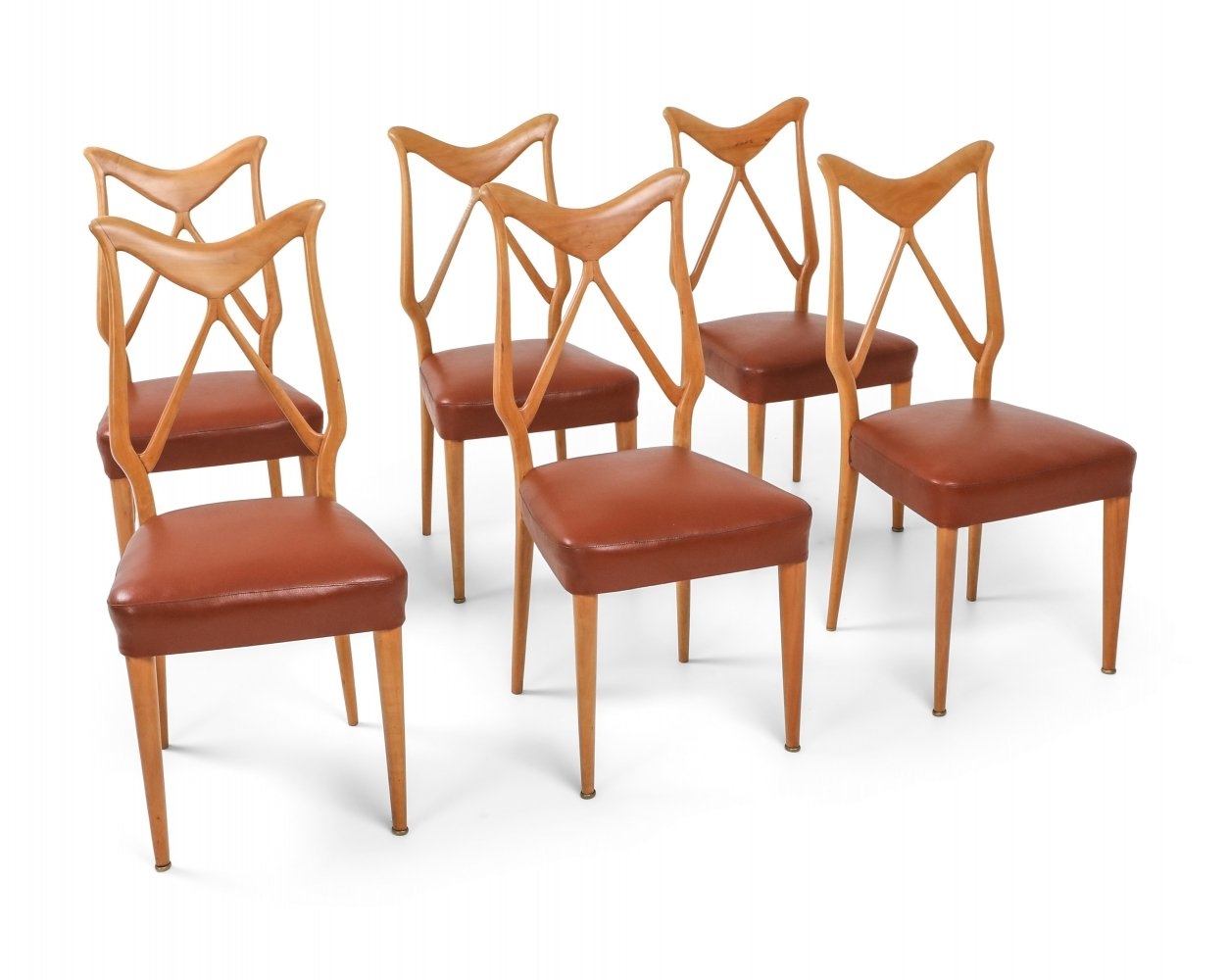 Oak & Leather Dining Chairs, 1970s