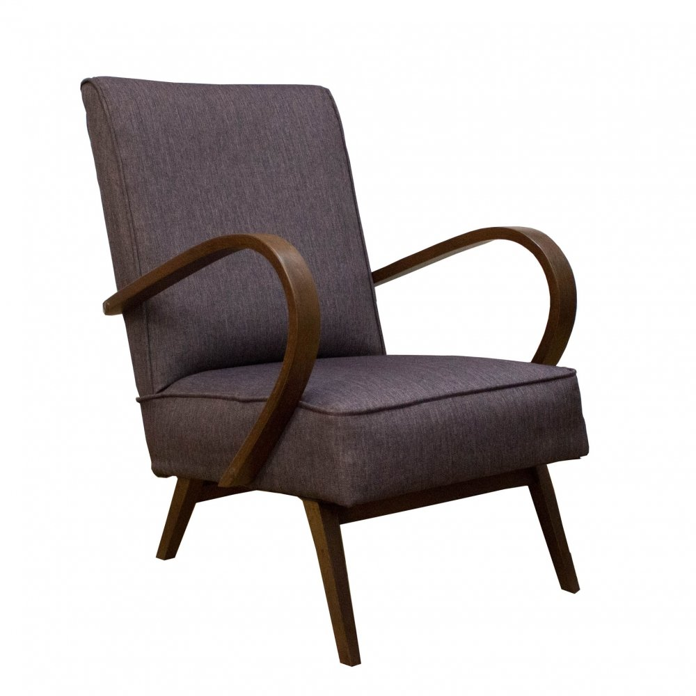 Art Deco armchair by Jindrich Halabala for UP Zavody, 1950s