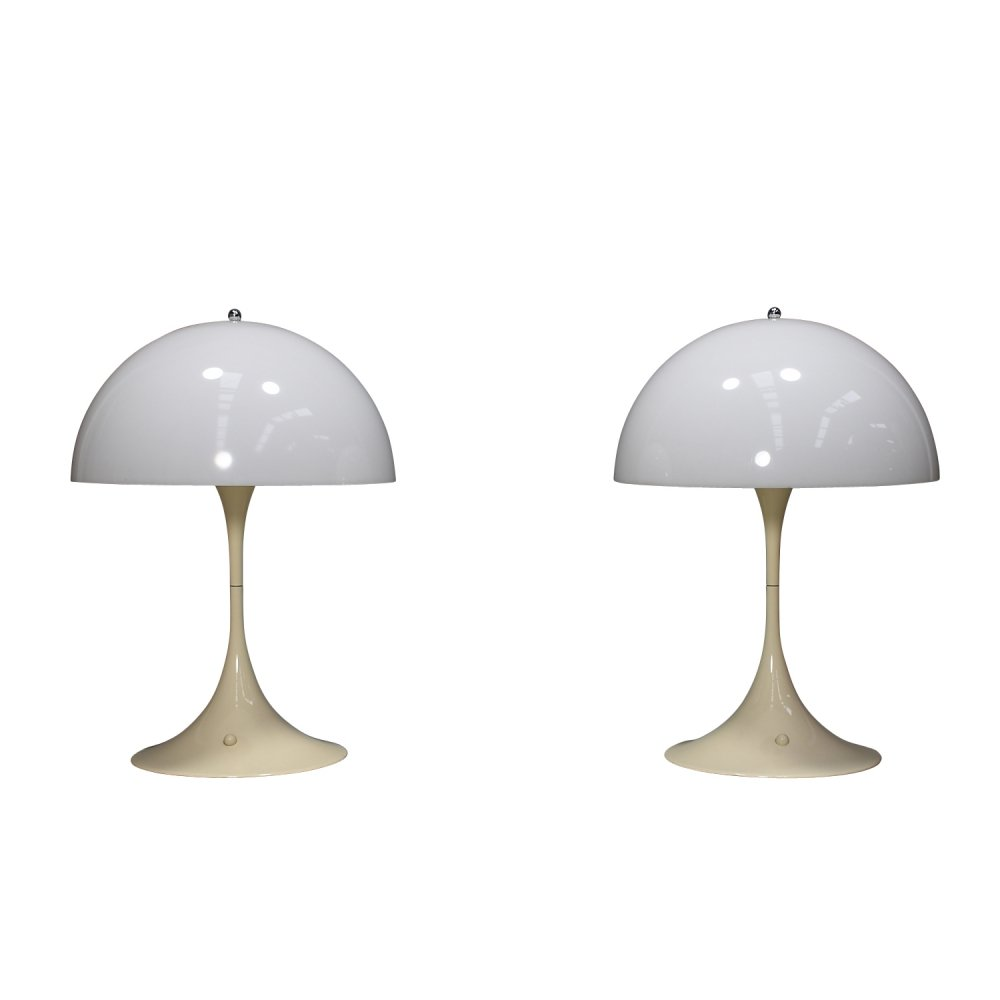 Pair of large 1st edition Panthella table lamps by Verner Panton, Denmark 1971