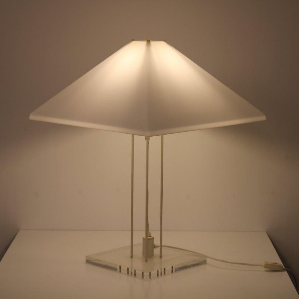 Plexiglass table lamp, the Netherlands 1970s