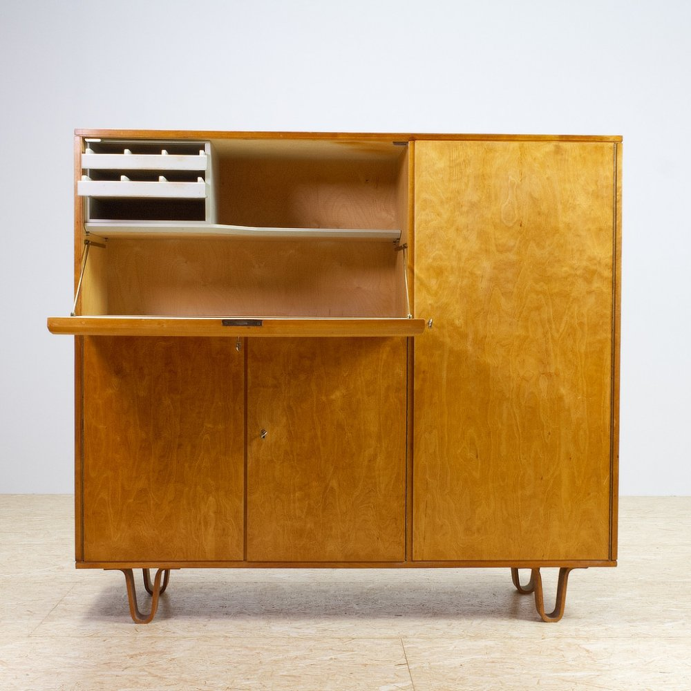 CB01 Cabinet in yellow Birch by Cees Braakman for Pastoe, 1951