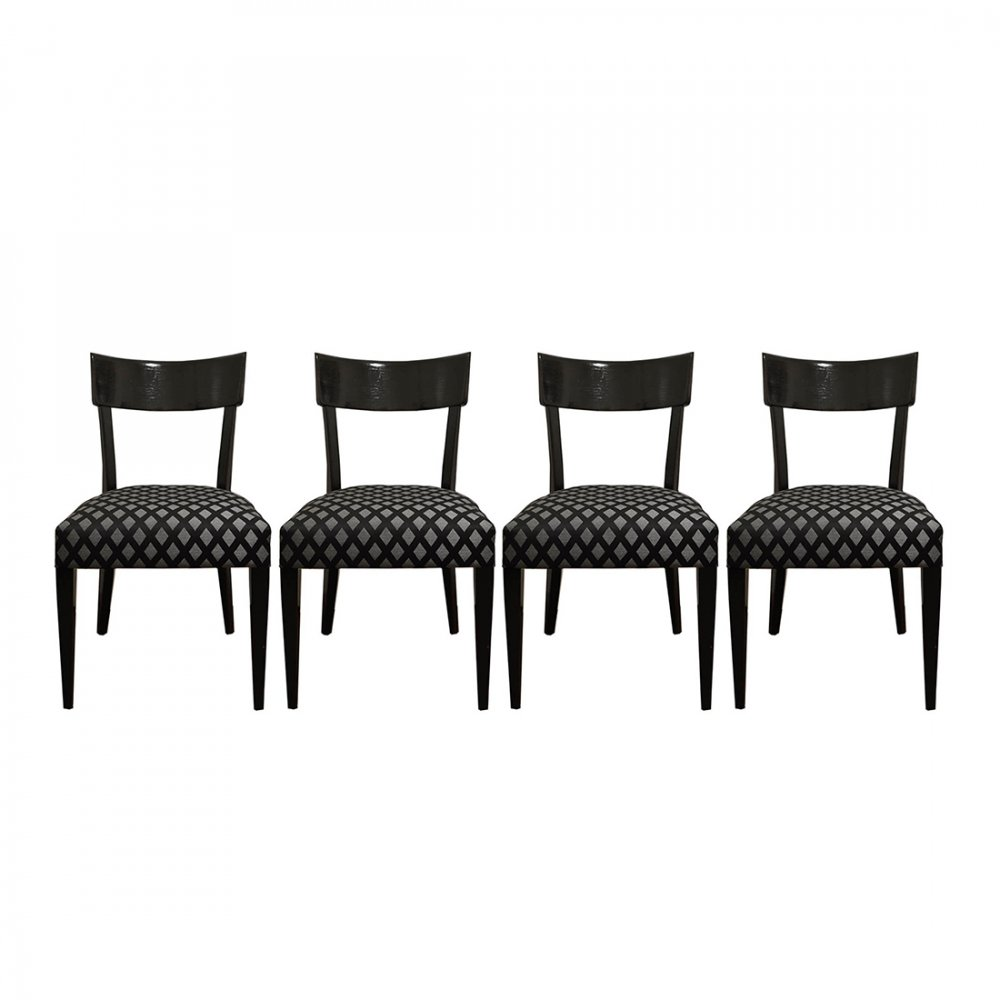 Set of 4 Art Deco Chairs by Jindrich Halabala, 1930s