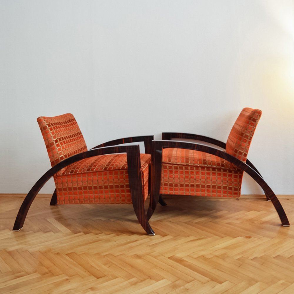Pair of Art Deco Armchairs, France 1930