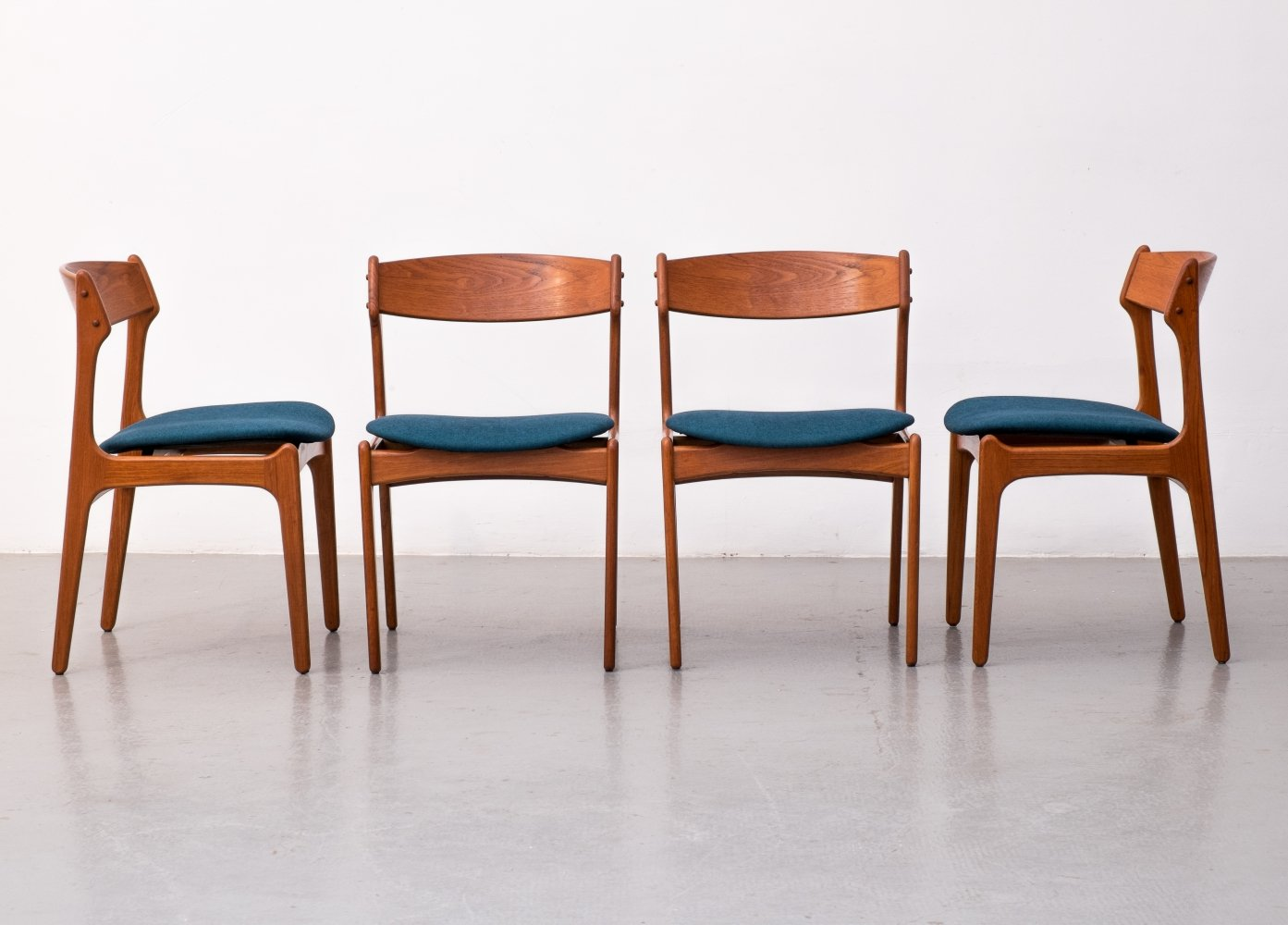 Set of 4 dining chairs by Erik Buch for O. D. Møbler, 1960s