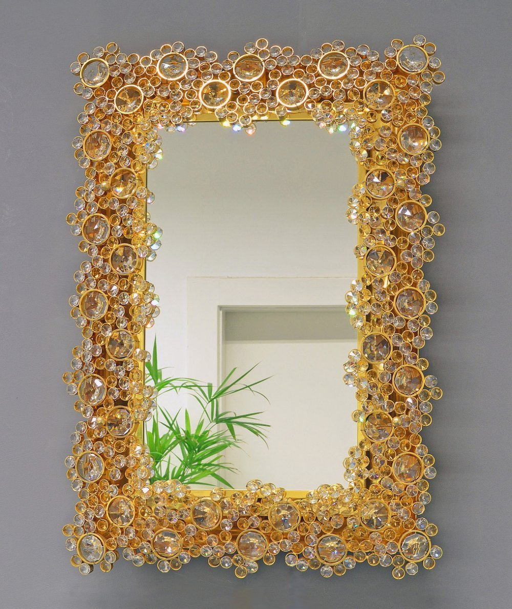 Illuminated Gilt Mirror by Ernst Palme for Palwa, 1970s