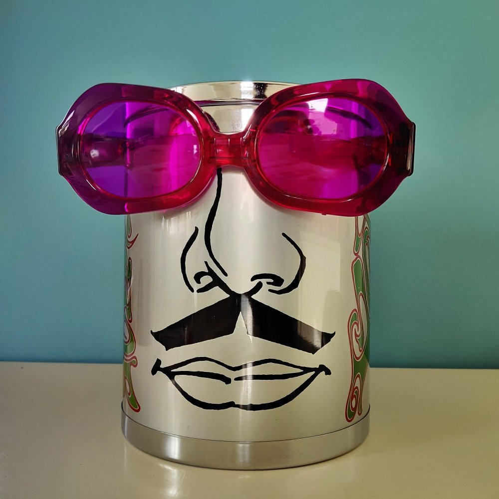 Vintage Peter Max ice bucket, 1960s