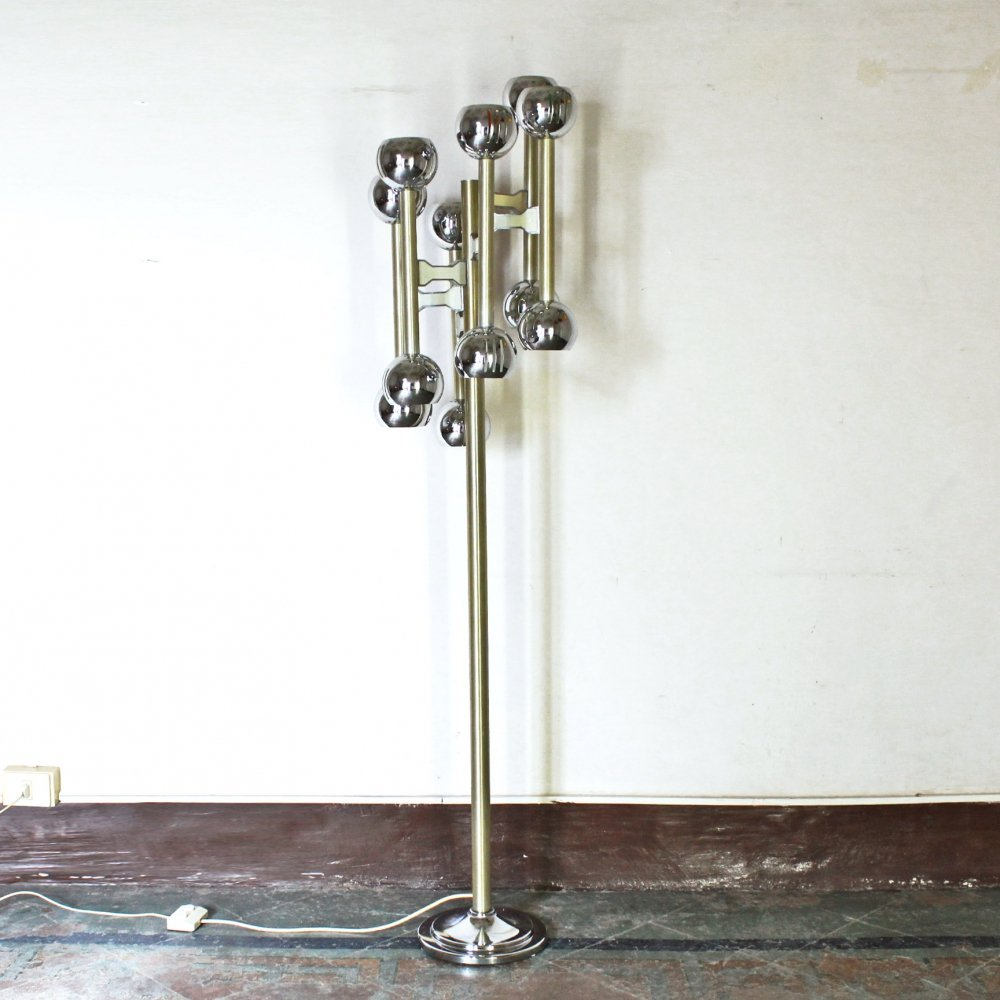 12 Lights Vintage Floor Lamp, 1970s