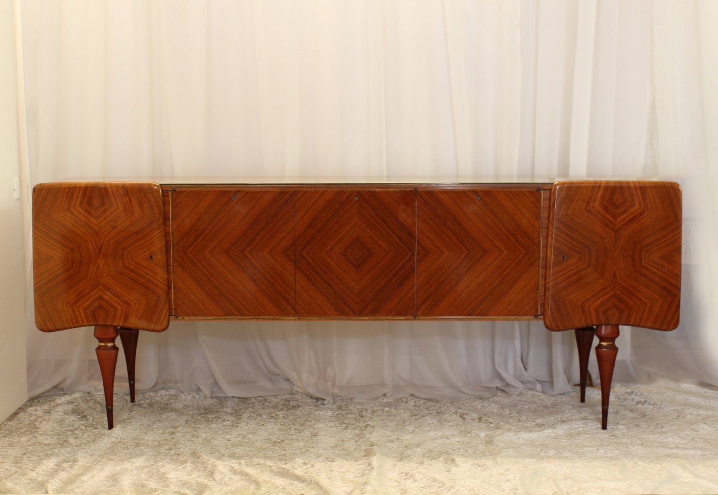 1950s vintage Sideboard with geometric figures