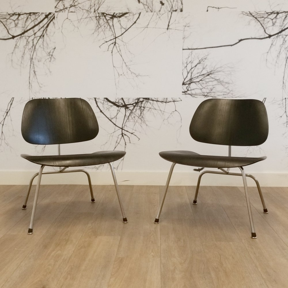 Set of 2 LCM Chairs by Charles & Ray Eames for Herman Miller, 1970s