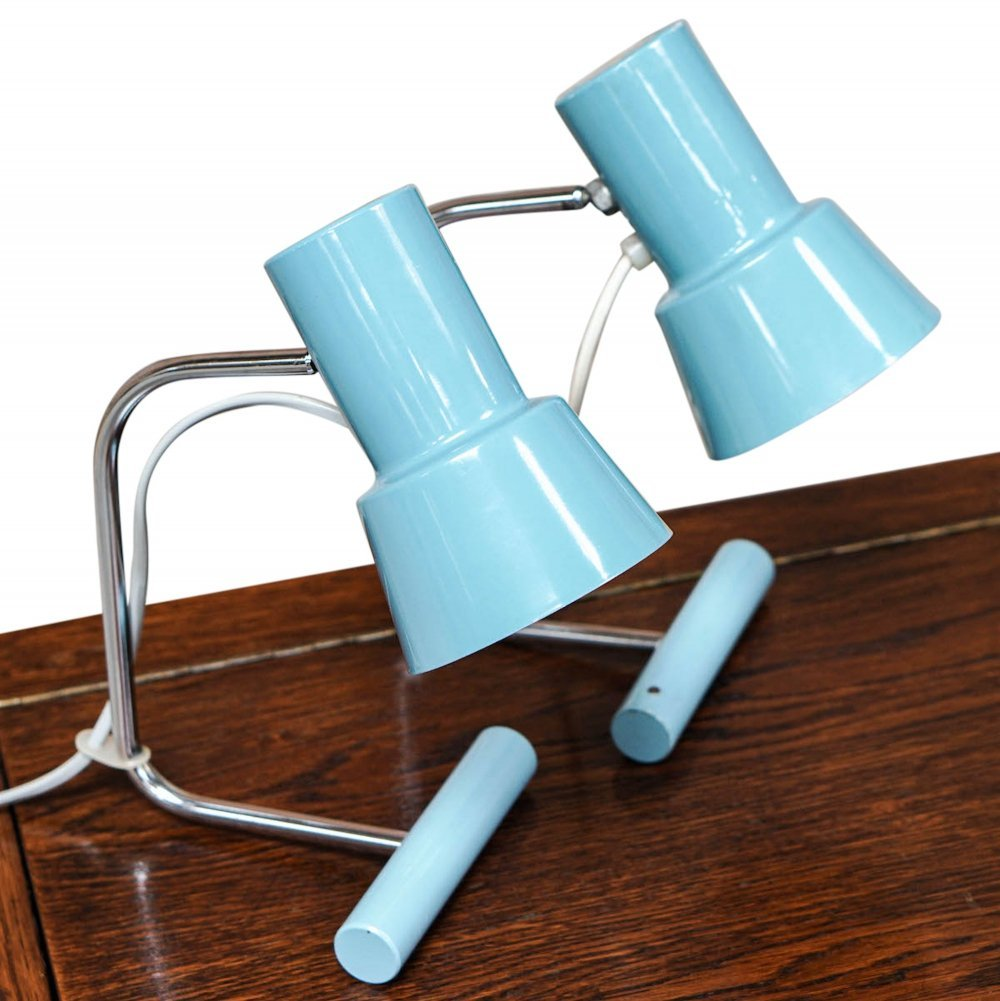 Blue Table lamp by Josef Hůrka for Napako, 1960s