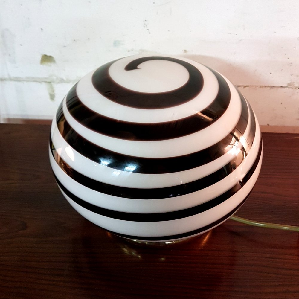 Glass swirl table lamp, 1960