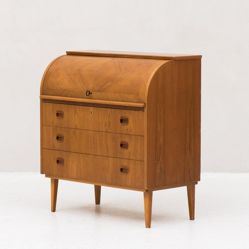 Roll top secretary by Egon Ostergaard, Swedish design 1960