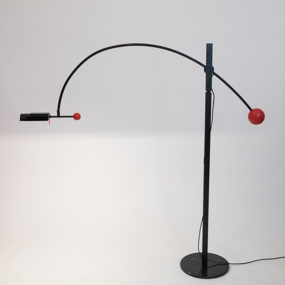 Vintage Floor Lamp by Robert Haussmann for Swiss Lamps International