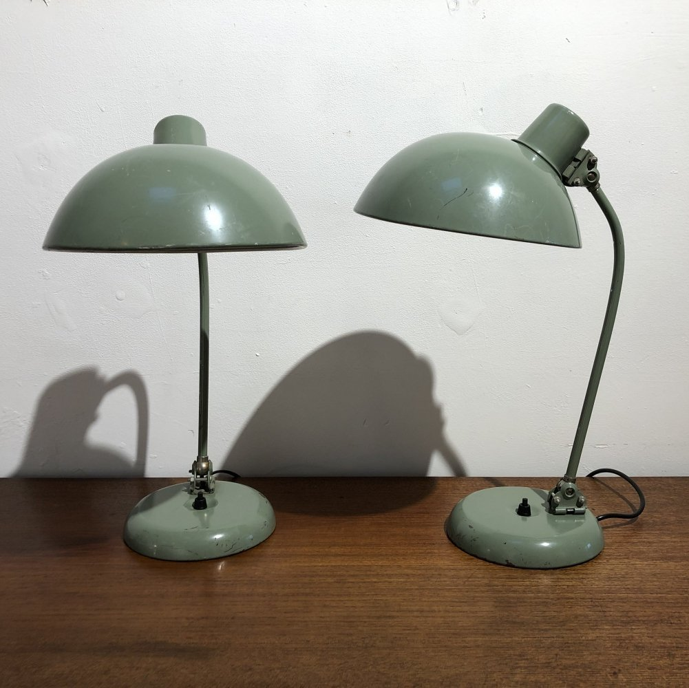 Pair of Early Bauhaus Adjustable Desk Lamps, 1930s