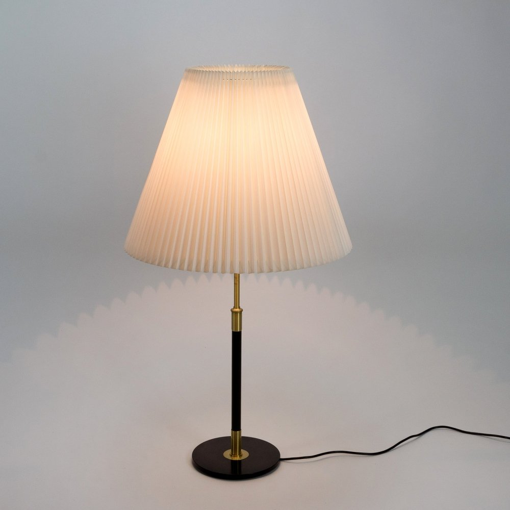 Model 352 Adjustable Table Lamp by Aage Petersen for Le Klint, Denmark, 1970s