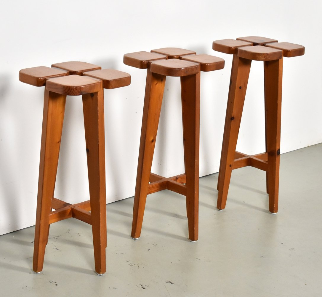 Set of 3 stools by Rauni Peippo for Stockmann Orno, 1960s