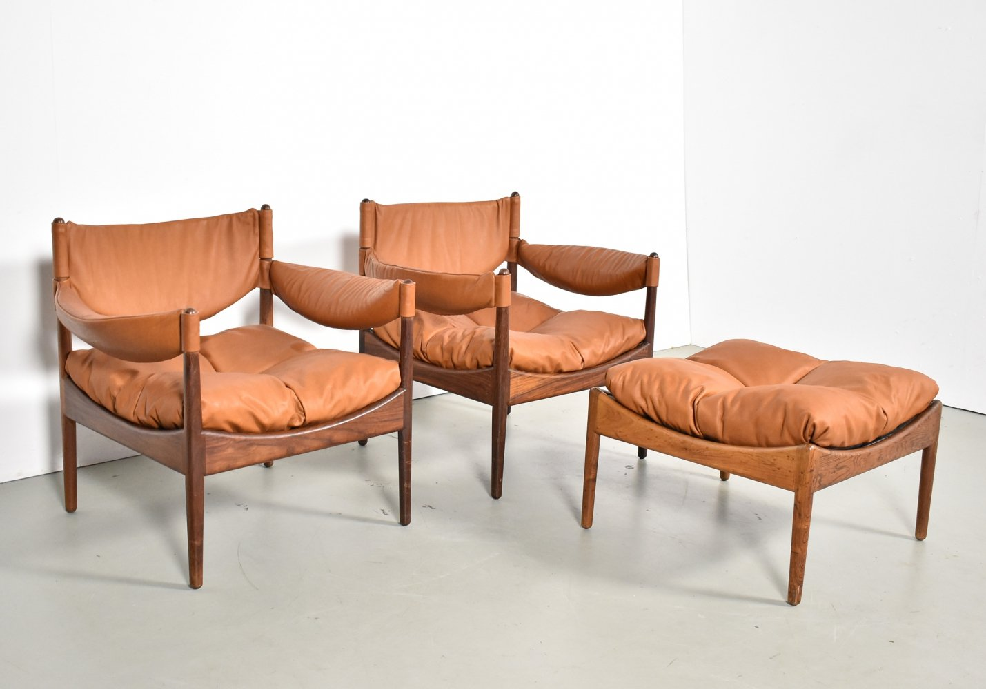 Pair of Modus lounge chairs by Kristian Vedel for Søren Willadsen, 1960s