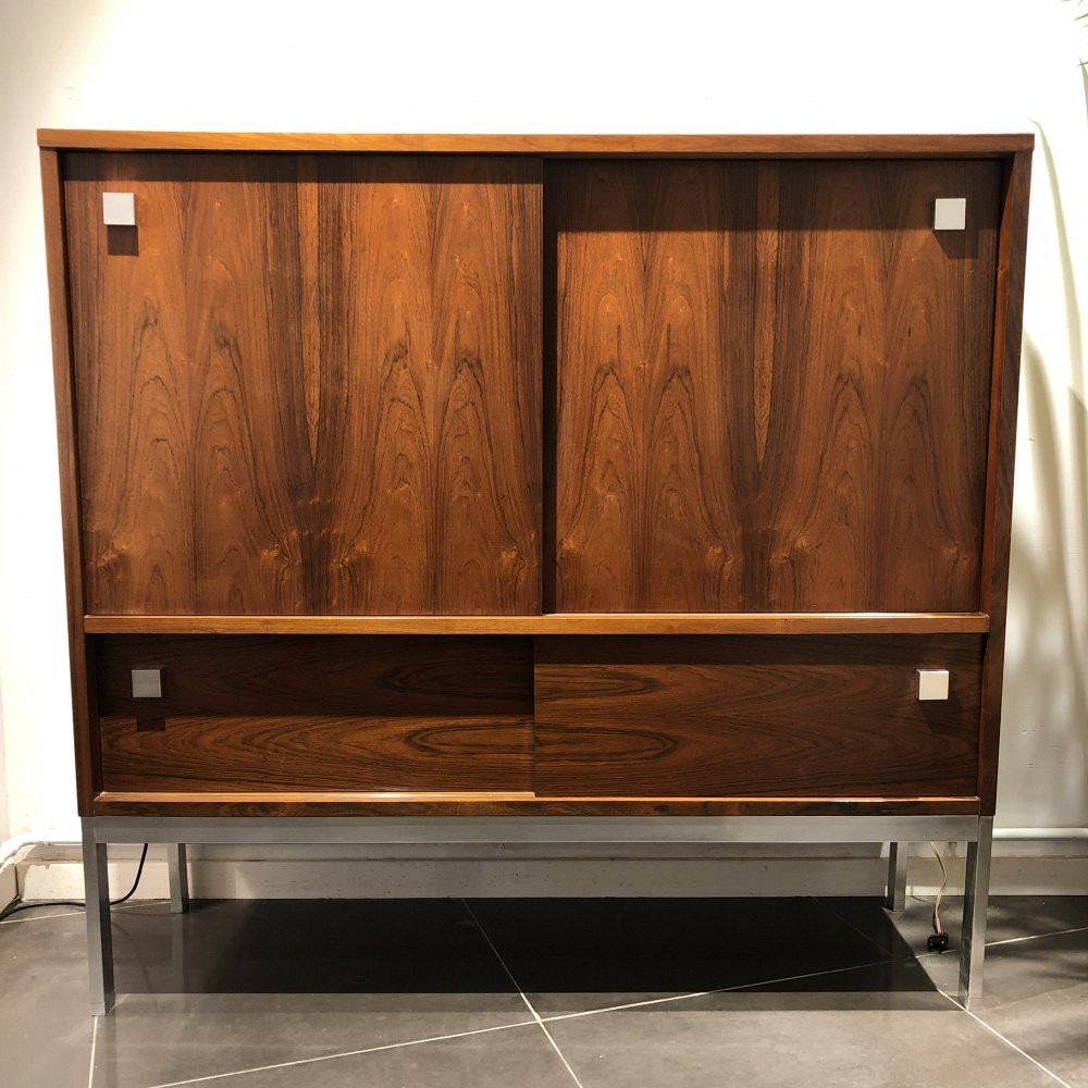 Rosewood Bar Cabinet by Alfred Hendrickx for Belform, 1960s