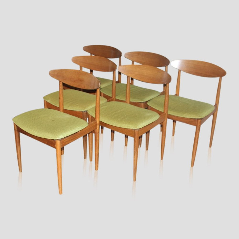 Set of 6 vintage teak mid century dining chairs by Kofod Larsen for G-PLAN, 1963