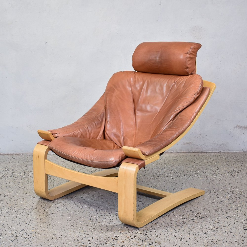 Leather Kroken Chair by Ake Fribytter