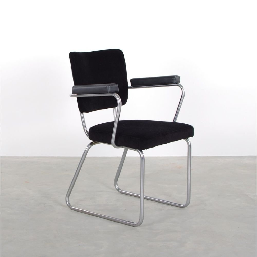 Black Gispen 352 conference chair by Christoffel Hoffmann, 1950s