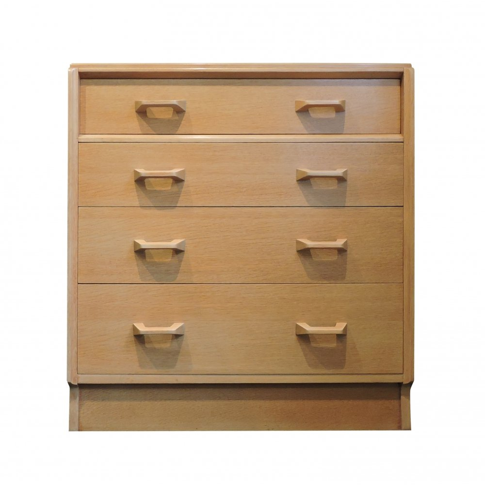 G-Plan Four Drawer Oak Chest of Drawers, 1960s