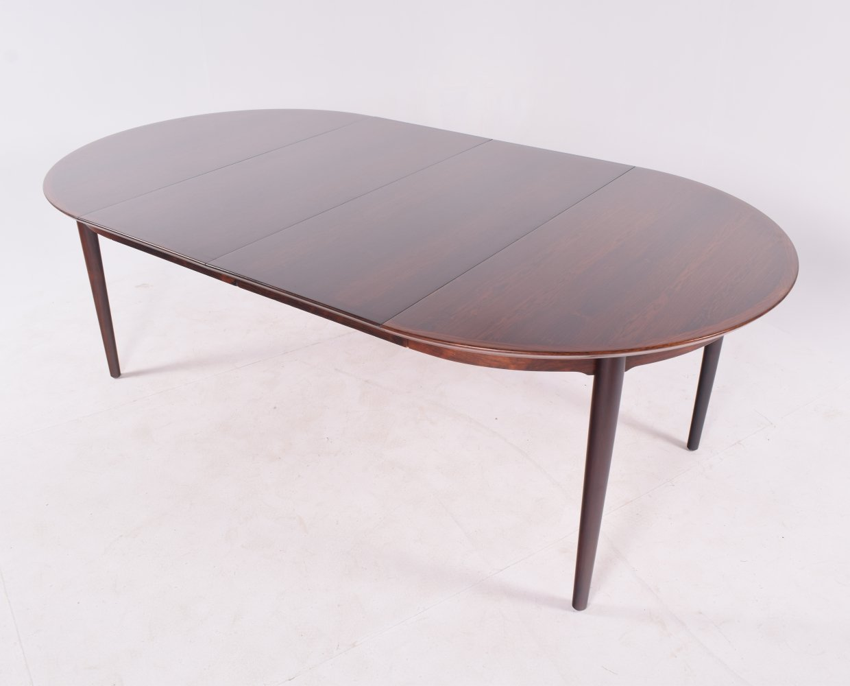 Danish Modern Rosewood Extendable Dining Table