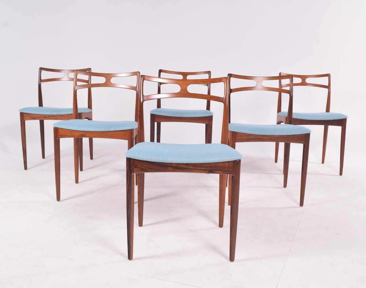 Model 94 Rosewood Dining Chairs by Johannes Andersen for Christian Linneberg