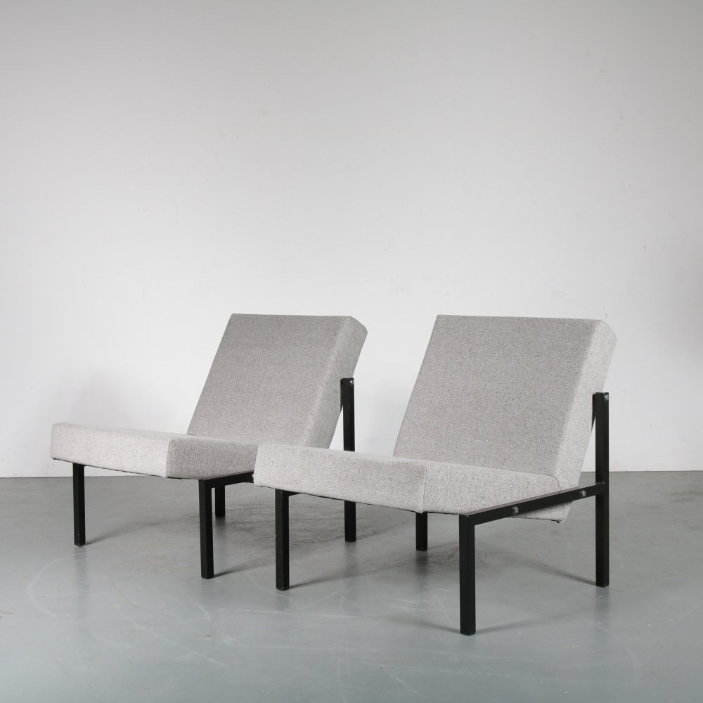 Pair of lounge chairs by Martin Visser for Spectrum, 1960s