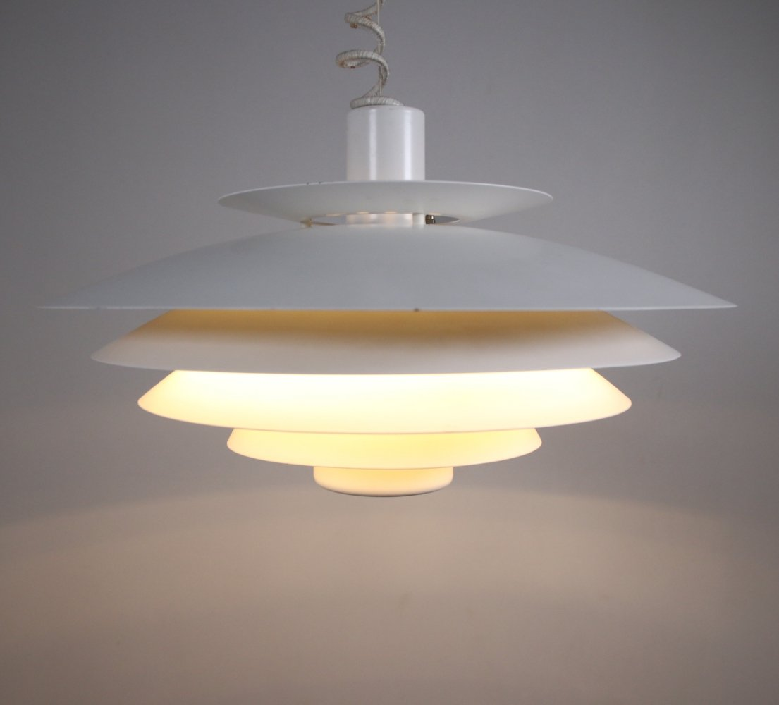 Large Danish snowball hanging lamp by Form Light, 1970s