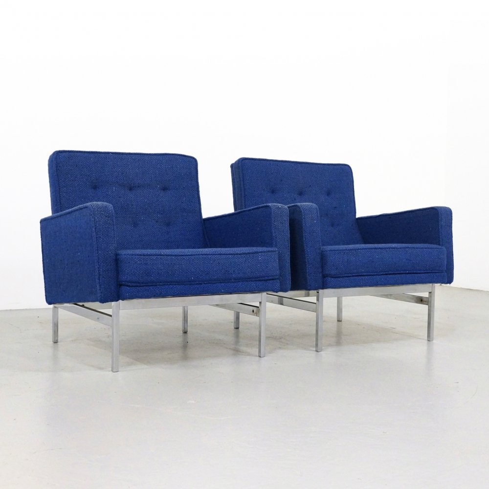 Pair of Florence Knoll Armchairs, 1950s