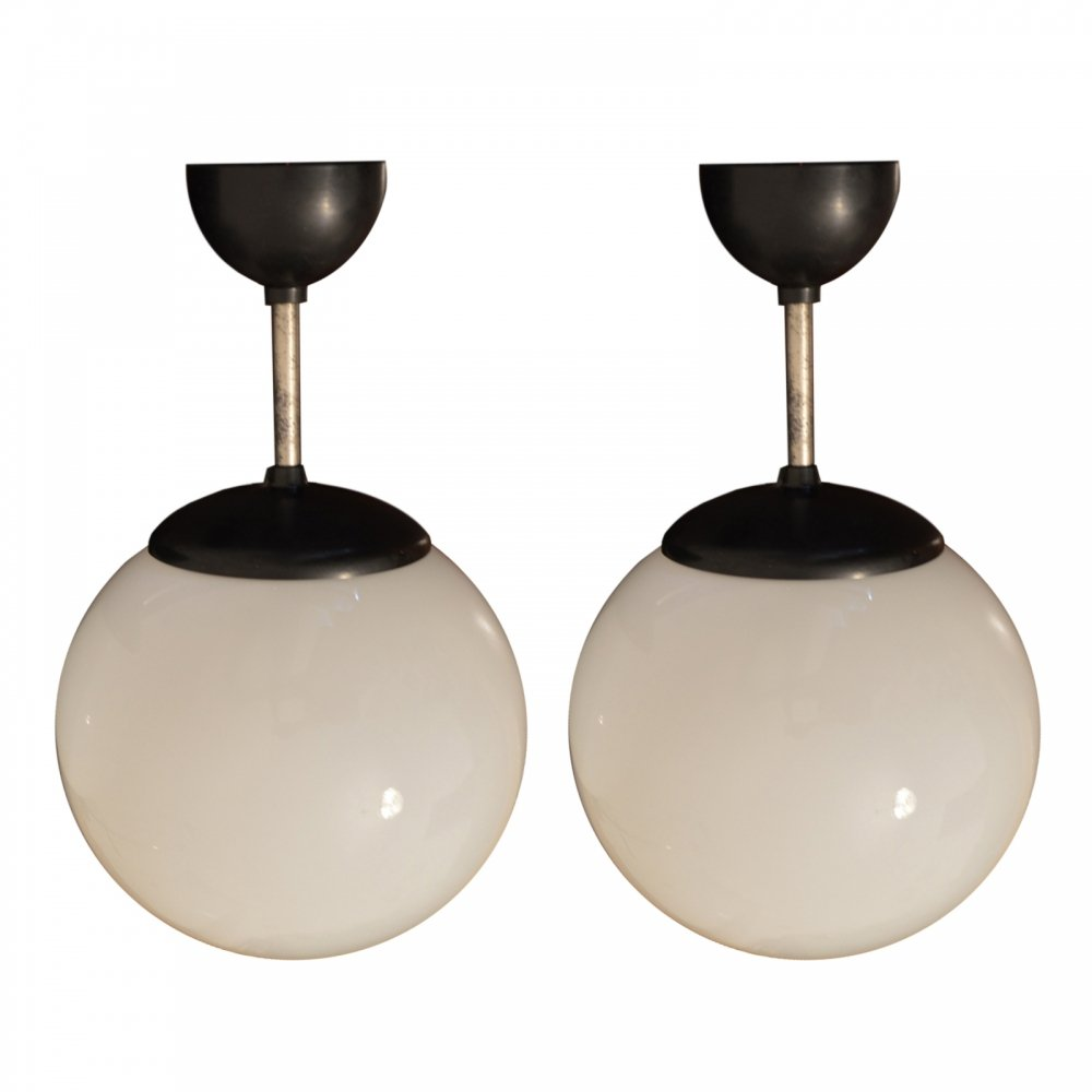 Set of 2 Bakelite Ceiling Lamps, 1940