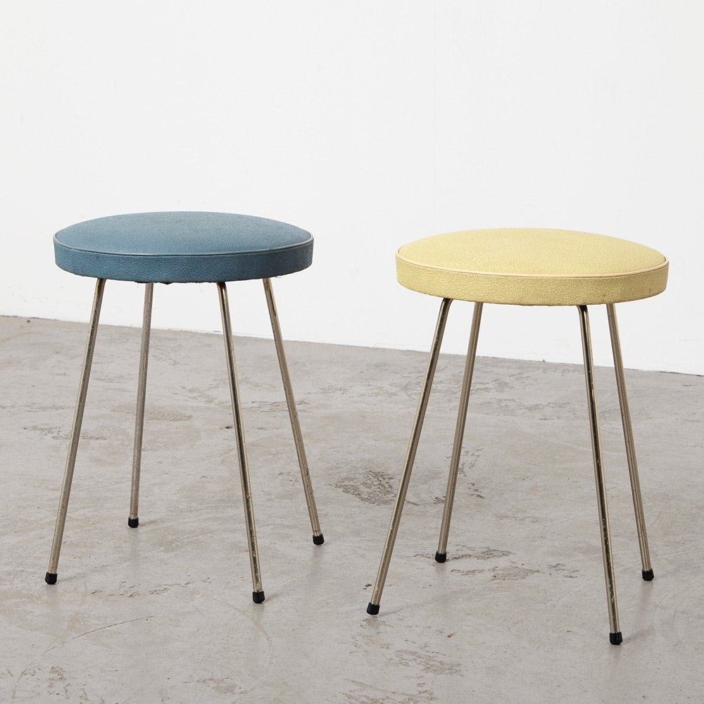 Pair of Stools by Rudolf Wolf for Elsrijk, 1950s