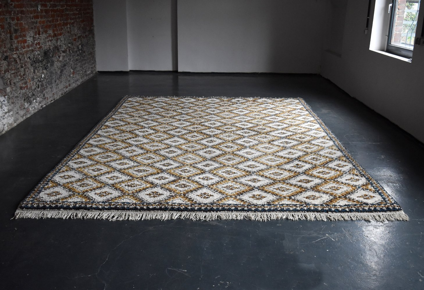 Vintage 1960s Wool Berber Carpet from Morocco, 1960s