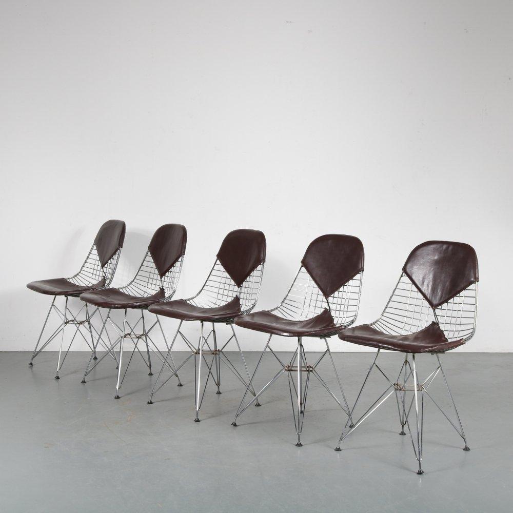 Set of 5 Bikini dining chairs by Charles & Ray Eames for Herman Miller, 1960s