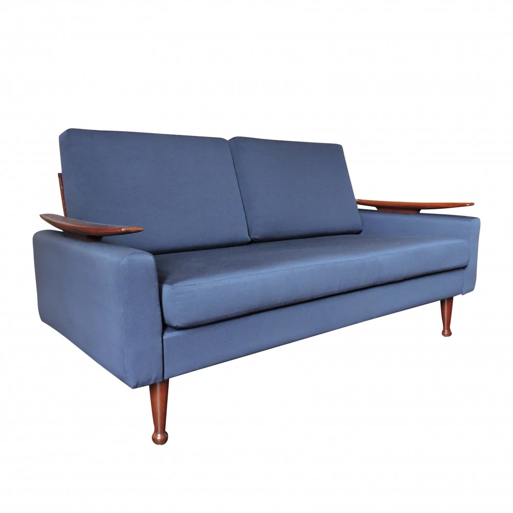 Navy Blue Sofa Bed by Greaves & Thomas, 1960s   124616