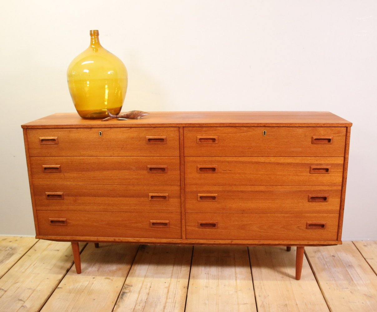 Danish Teak sideboard with 8 drawers, 1960s