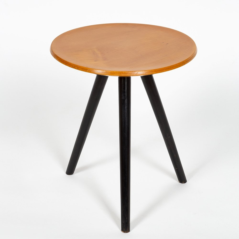 Rare small stool designed by Willy Guhl in 1954 for Wohnhilfe