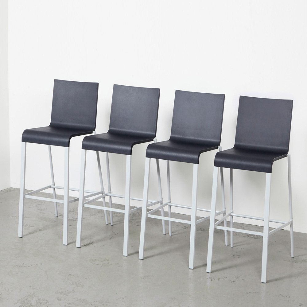 Set of 4 Bar Stools 03. by Maarten van Severen for Vitra, 1999