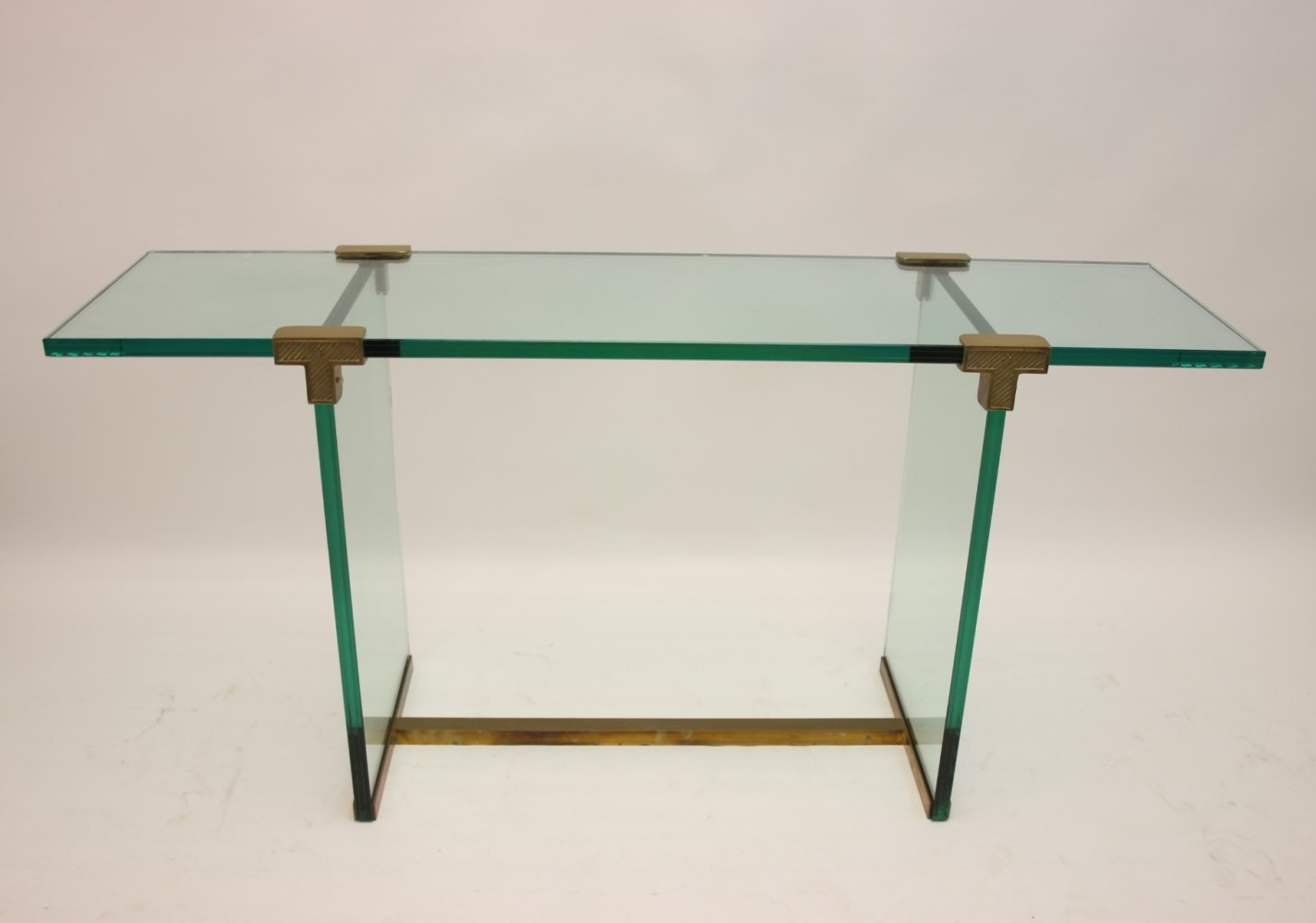 Glass model T 30 Sidetable or Console by Peter Ghyczy, 1970s