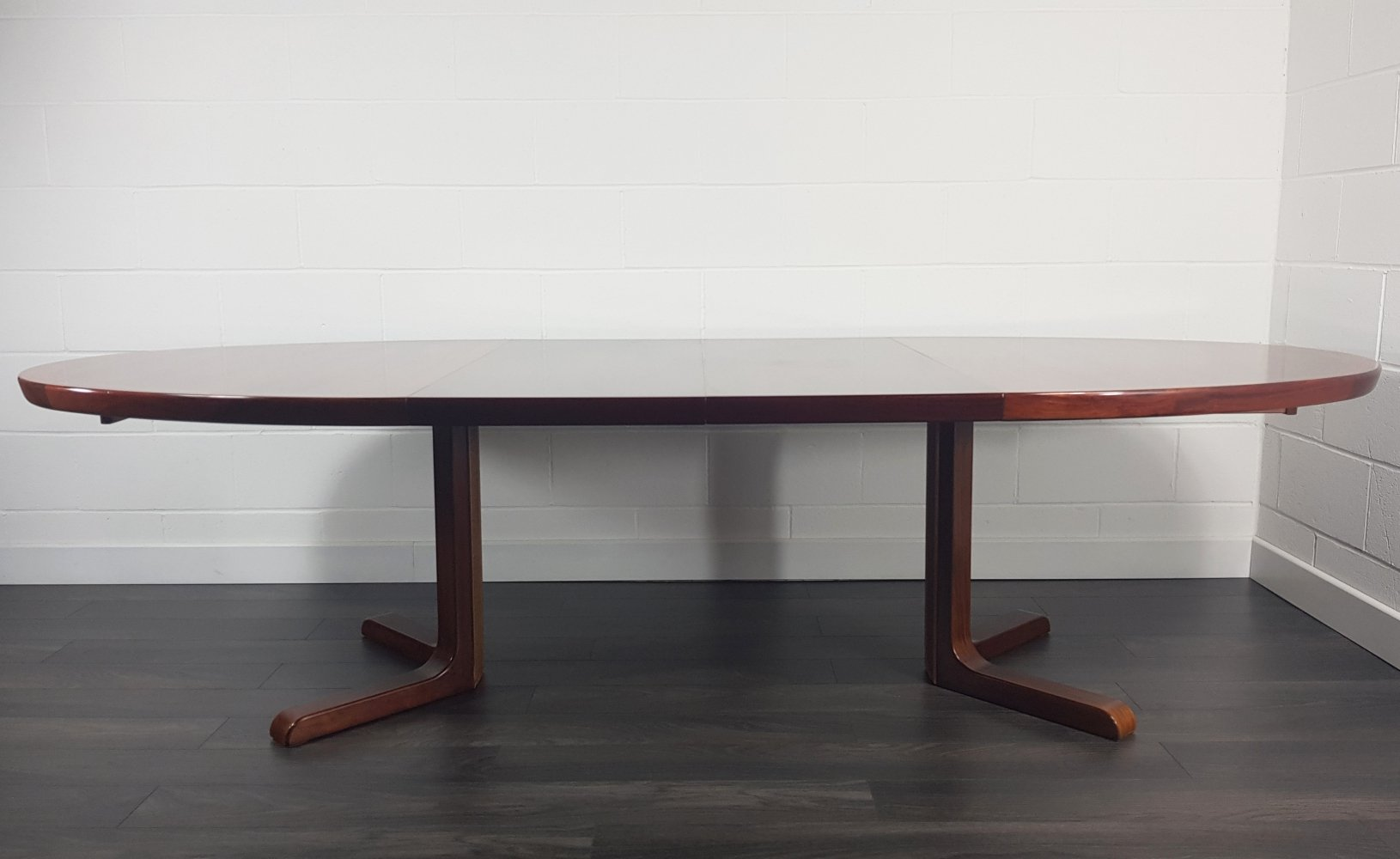 Danish Rosewood Double Extending Dining Table by Skovby, 1960s