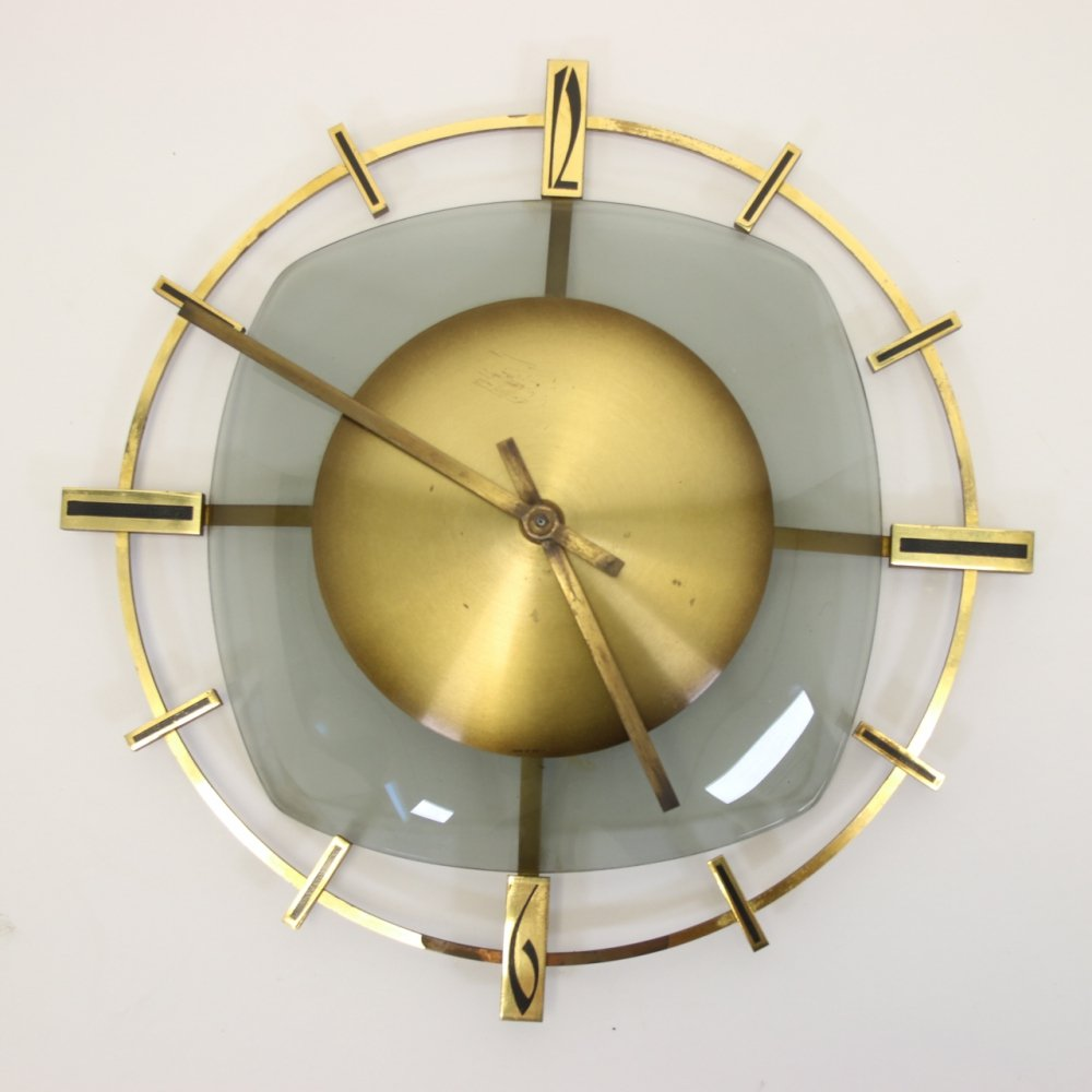 Vintage Wall clock, West Germany 1950s