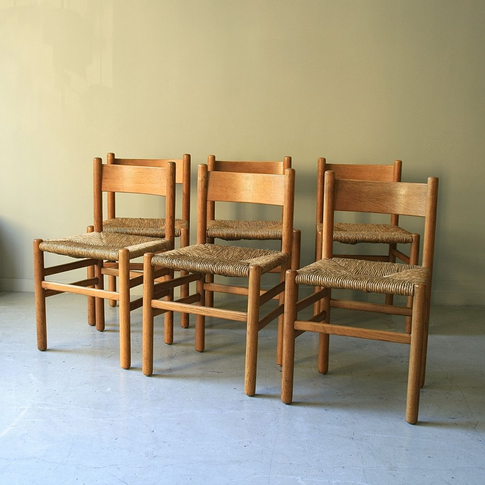 Set of 6 Ad Vorm dining chairs, 1950s