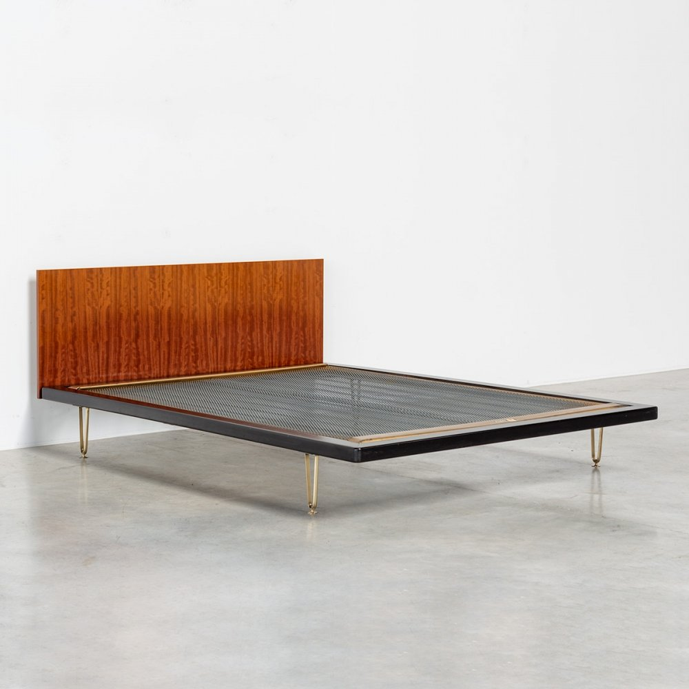 Model nr. DB 150 double bed by Alfred Hendrickx for Belform, 1950s
