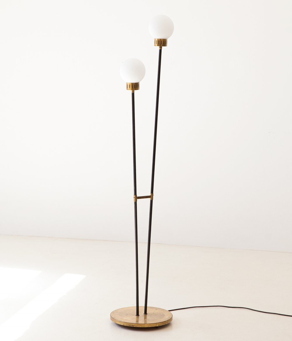 Italian Stilnovo Floor Lamp, 1950s