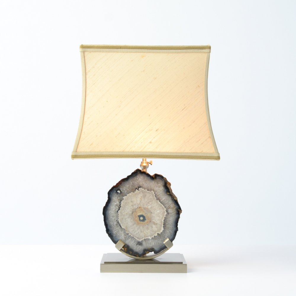 Agate Stone Table Lamp, 1970s