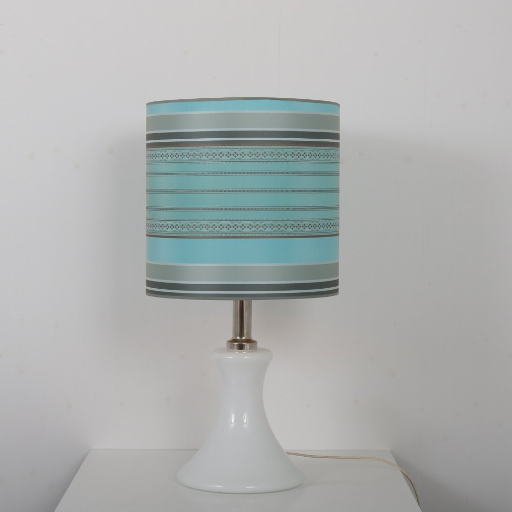 White glass table lamp by Ingo Maurer for M-Design, Germany 1960s