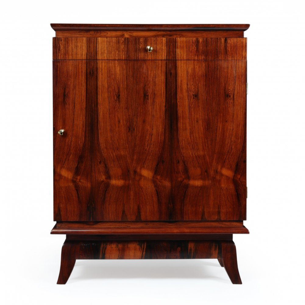 French Art Deco Rosewood Cabinet, c1930