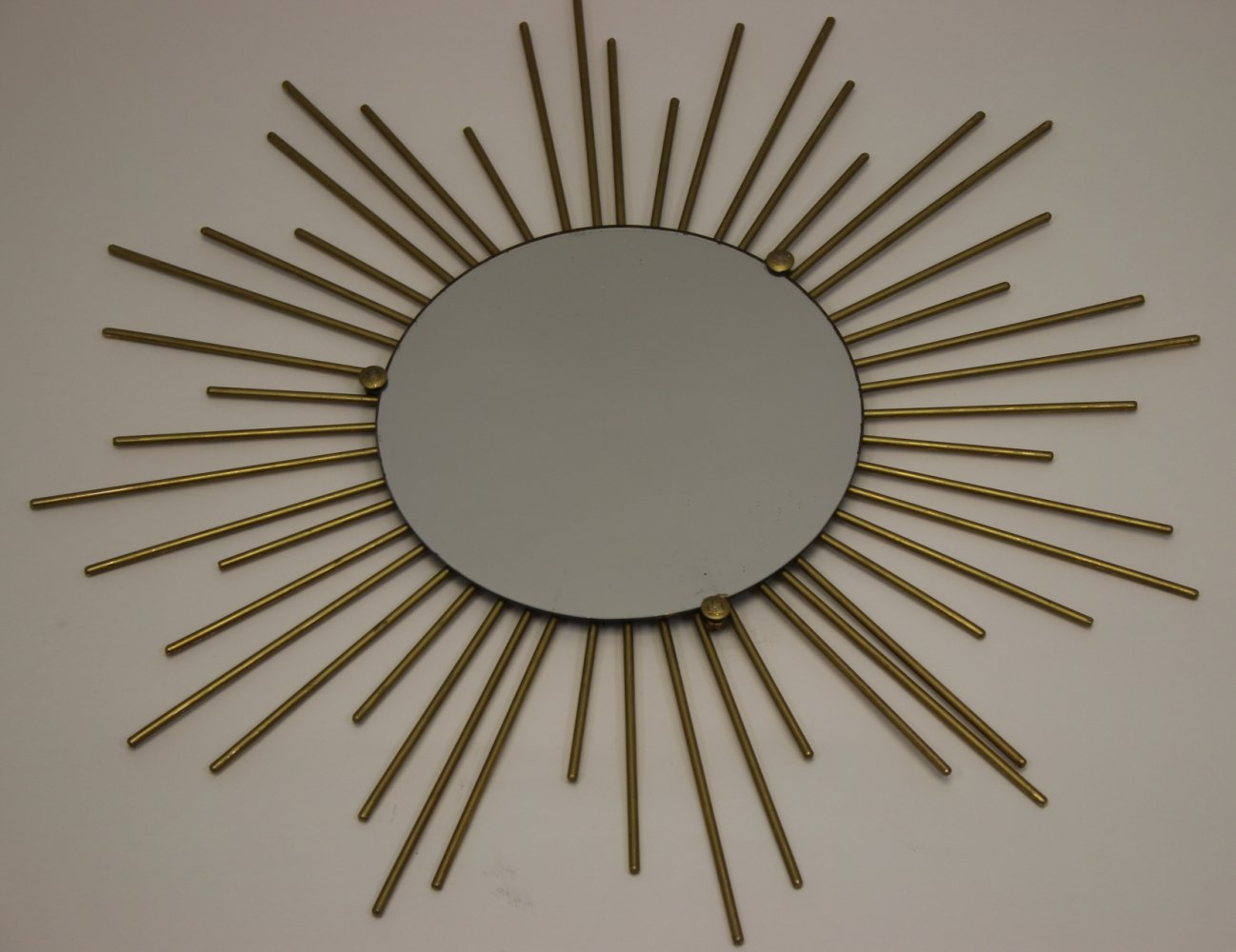 French Metal Solar Mirror, 1950s